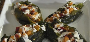 Chile Rellenos en Nogada – Stuffed Poblano Peppers with Creamy Pecan Sauce