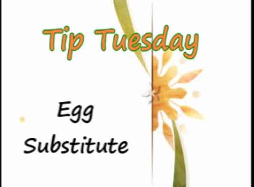 egg in recipe substitute