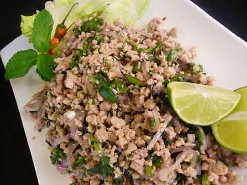 Thai Chicken Larb (Laab) Recipe Video by Show Me The Curry,indian ...