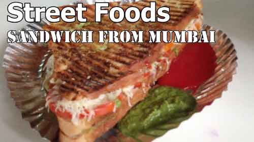 Grilled Vegetarian Sandwhich, Street Food Video from Mumbai