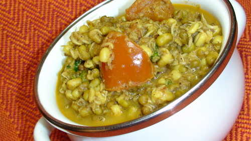 How To Make Sprouted Mung Moong Curry A Konkani Recipe
