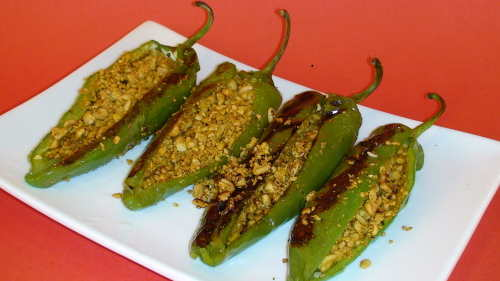 How to make Stuffed Peppers - Indian Appetizer Recipe Video by Show Me ...