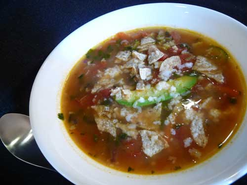 How to make Vegetarian Tortilla Soup - A Mexican Soup Video Recipe by ...