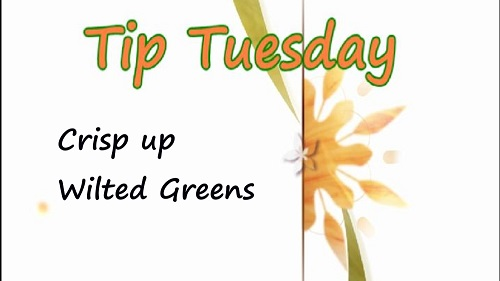 How to Crisp up Wilted Greens – Tuesday Tip