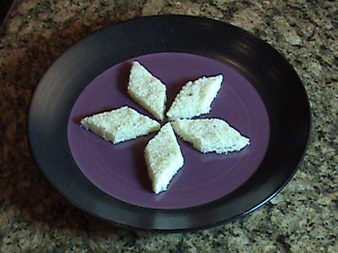 Coconut Burfi - Indian Dessert